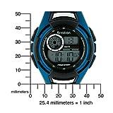 Armitron Men's 491014ELBI Sport Black and Blue Accented Digital Sport Watch