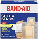 Band-Aid Brand Adhesive Bandages, Sheer, 80 Count (Pack of 2)