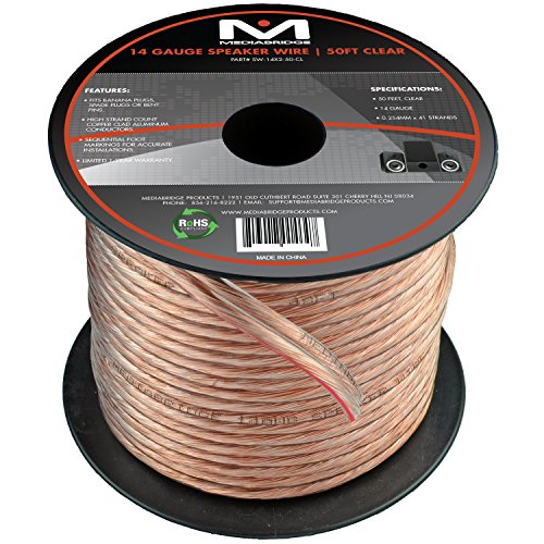For Sale! Mediabridge 14AWG Speaker Wire (50 Feet) - Spooled Design with Sequential Foot Markings