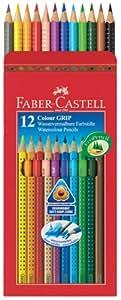 Faber Castell Colour GRIP Water Colour Pencils 12 Shades