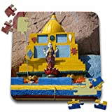Angelique Cajam India - Fort Gloconda paintings up close - 10x10 Inch Puzzle (pzl_26796_2)