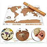 KingSo Personalised World Travel Scratch Map 35