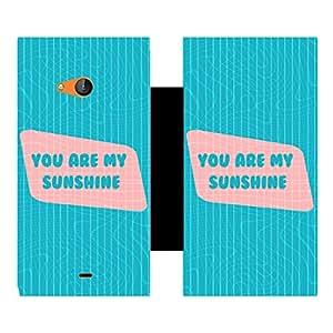 Skintice Designer Flip Cover with Vinyl wrap-around for Microsoft Lumia 540, Design - you are my sunshin