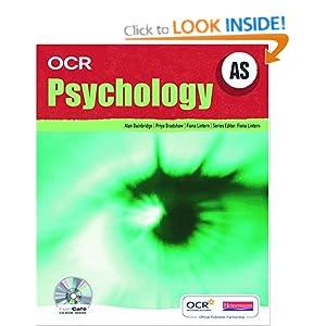 OCR AS Psychology Student Book (OCR A Level Psychology)