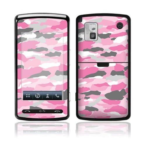Pink Camo Decorative Skin Cover Decal Sticker for LG VU CU915 CU920 Cell Phone
