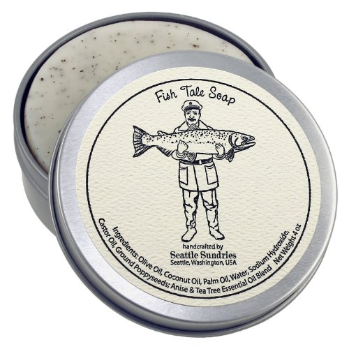 Fish Tale Soap-100% Natural & Handmade, in Reusable Travel Gift Tin (Seattle Fishing compare prices)