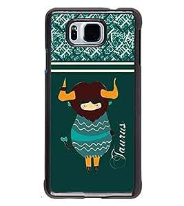 Fuson 2D Printed Sunsign Taurus Designer back case cover for Samsung Galaxy Alpha - D4410