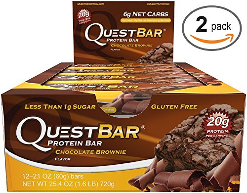 Quest Bar Chocolate Brownie -2.12 Oz. BARS , Box of 12 - 2 Pack (Quest Bar Brownie compare prices)