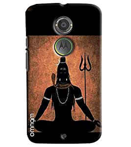 Omnam Lord Shiva Meditating Effect Printed Designer Back Cover Case For Motorola Moto X2