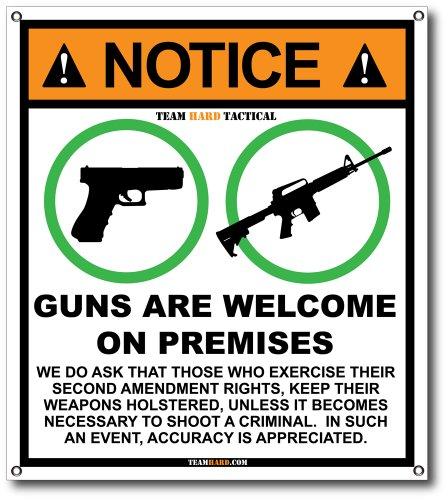shop-or-mancave-banner-guns-are-welcome-on-premises-pro-second-amendment-2a