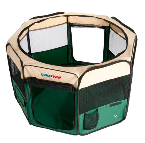 Great Paw Hideaway Soft Pet Play Pen, Medium front-722920