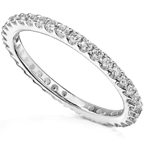 Diamond Eternity Wedding Band 1/2 carat (ctw) in 14K White Gold (H-I/I1-I2)