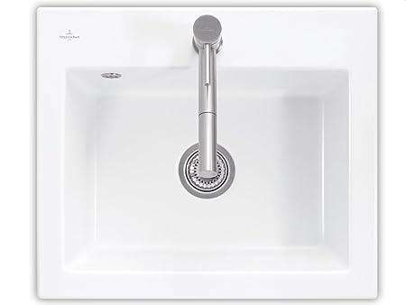 Villeroy & Boch Subway 60 S White Snow White Ceramic Sink Countertop Sink Kitchen