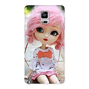 Ajay Enterprises Pink Doll Back Case Cover for Galaxy Note 4