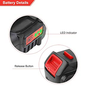 6.0Ah DCB205 Replacement for Dewalt 20V Battery Max XR Lithium DCB206 DCB204 DCB203 DCB200 DCB180 DCB230 DCD DCF DCG Series 2 Pack