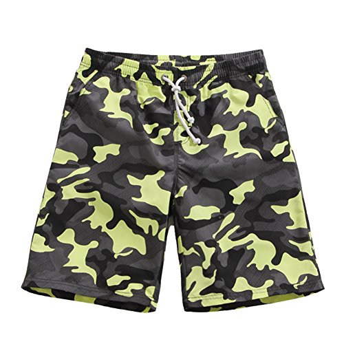 Coface Camo Printing Boardshorts Swimming Shorts, Medium