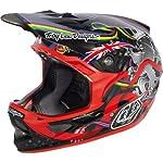 "Troy Lee Designs Peat ""World Champ"" D3 Carbon Bike Racing BMX Helmet - Red / Medium"