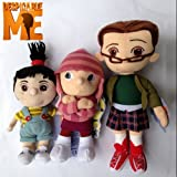 3 Orphan Girls Despicable Me Character Plush Toy Margo Edith Agnes Sisters Soft