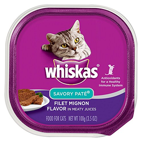 Whiskas Savory Pate Filet Mignon Flavor In Meaty Juices