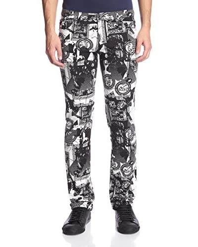 Versace Jeans Men's Allover Print Slim Jeans