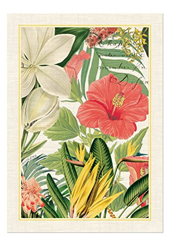 Michel Design Works Natural Cotton Kitchen Towel, Vanilla Palm