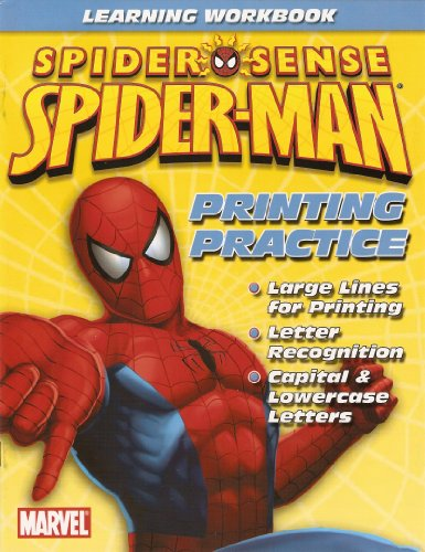 Spider-Man Printing Practice Workbook
