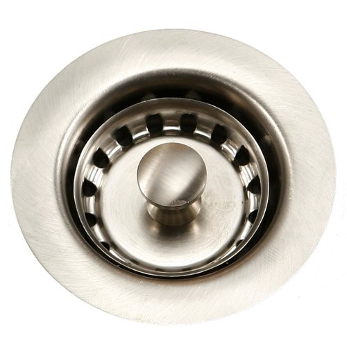 Houzer 190-4200 Stainless Steel Drain Basket Strainer, 2-Inch