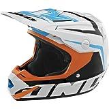 One Industries Atom Array Helmet (Orange/Cyan, Medium)