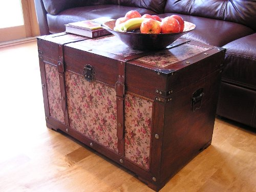 Savannah Chest Wooden Steamer Trunk - Large Size 2