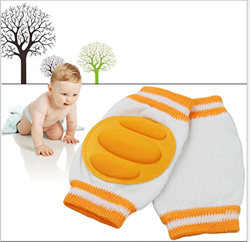 [2 Pairs] Boys Girls Unisex Cute Cotton Adjustable Elastic Baby Crawling Child Knee Pad Toddler Elbow Pads Crawling Safety Protector