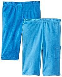 Gerber Baby-Boys Newborn 2 Pack Pants, Blue, 0-3 Months
