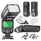 Neewer® NW565N Professional i-TTL Slave Flash Kit for Nikon D7100 D7000 D5300 D5200 D5100 D5000 D3200 D3100 D3300 D90 D800 D700 D300 D300S D610, D600 D4 D3S D3X D3 D200 and All Other Nikon DSLR Cameras - Includes: Neewer Auto-Focus Flash + 2.4GHz Wireless Trigger + N1-Cord & N3-Cord Cables + Hard & Soft Flash Diffusers +Lens Cap Holder