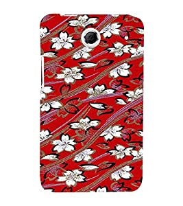 PrintVisa Flower Pattern 3D Hard Polycarbonate Designer Back Case Cover for Lenovo K880