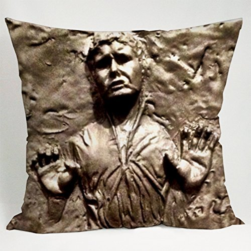 Star Wars Han Solo Frozen in Carbonite Pillow Case (18x18 one side) by Pillow cases