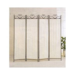 coaster 4 panel elegant room divider screen