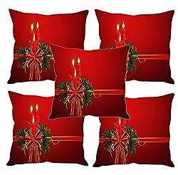 Sleep nature's merry Christmas printed Cushion Covers Set of Five