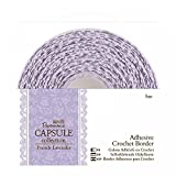 Papermania 5 m Capsule Adhesive Crochet Border, French Lavender