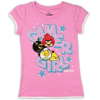 """Angry Birds Girls """"Gamer Girl"""" Glitter Tee Shirt-16"""
