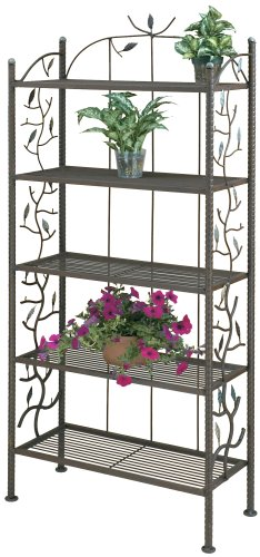 Deer Park BR109 Vine and Leaf Bakers Rack