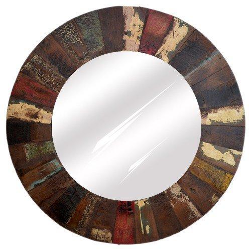 Reclaimed wood distress finish mirror