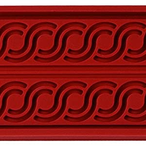 Fat Daddio's Frieze Design Silicone Pastry Relief Mat, 600-Mm By 400-Mm
