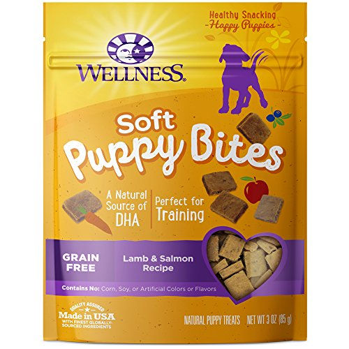 Wellness Soft Puppy Bites Natural Grain Free Puppy Training Treats, Lamb & Salmon, 3-Ounce Bag (Wellness Chicken And Lamb Treats compare prices)