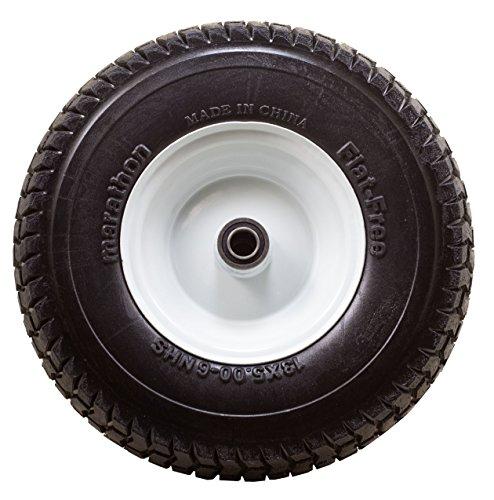 Marathon Flat Free Tire On Wheel 3 Hub 3 4