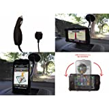 Vierra - Definitive Apple iPhone 4 4G HD Car Kit Pack with Rotating Windscreen Holder Mount Stand and Free Case & Car Chargerby Vierra