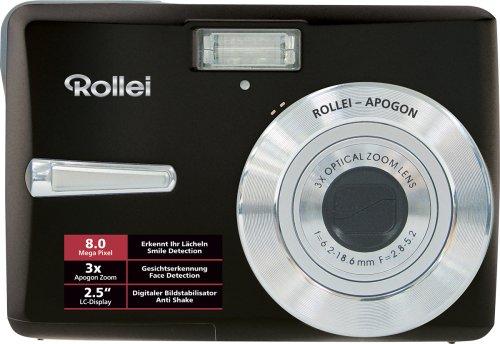 Rollei S-8 Digitalkamera (8 Megapixel, 3-Fach opt. Zoom, 6,4 cm (2,5 Zoll) Display) schwarz inkl. 1 GB SD-Karte und Tasche