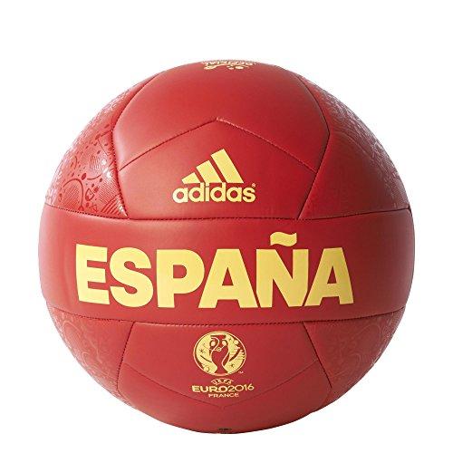 Adidas - Pallone Da Calcio Spagna Euro 2016 Colore Rosso