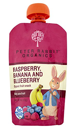 Peter Rabbit Organics Raspberry, Banana and Blueberry, 4.0-Ounce Pouches (Pack of 10) (Organic Fruit And Vegetable compare prices)