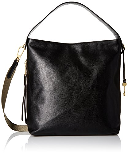 Fossil Maya Large Hobo, Black