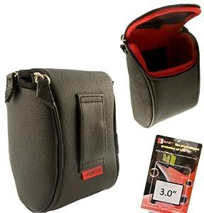 Housse de cuir Nappa pour Fuji X10 - incluse Protection professionnelle de l'écran dotée d'un verre authentique