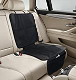 Car Seat Protector - Premium Child Car Seat Protector to Use Under Your Child's Car Seat - Includes FREE BONUS Gift - Protects Auto Leather or Fabric Upholstery From Damage, Spills & Crumbs. Best Baby Car Seat Protector Mat - 100% Lifetime Guarantee